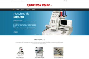 sito web aperto in divisiontrade , in primo piano macchina da ricamo